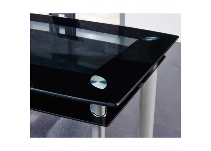 Blocked Glass Dining Table