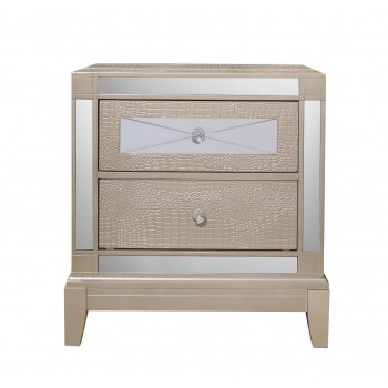 Mirror Champagne Nightstand