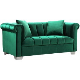 Green Kayla Velvet Loveseat
