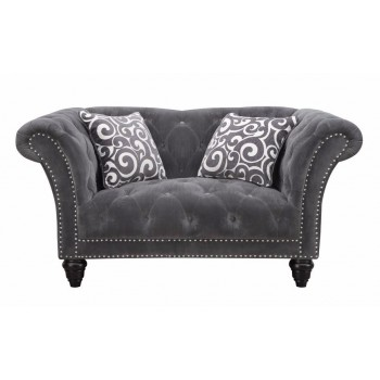 HUTTON LOVESEAT NAILHEAD WITH 2 PILLOWS