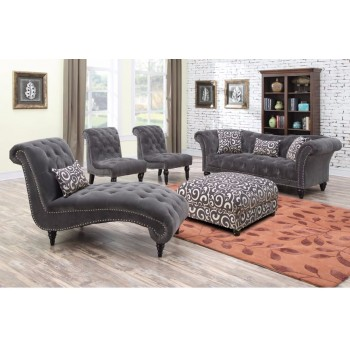 HUTTON SOFA NAILHEAD WITH 2 PILLOWS AND 1 KIDNEY PILLOW