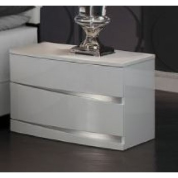 Aurora Bedroom Collection - Nightstand White