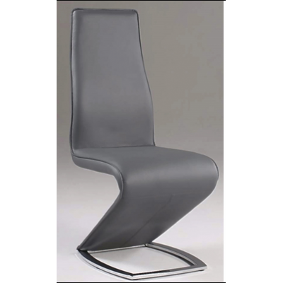 Tara Stationary Dining Side Chair in Gray