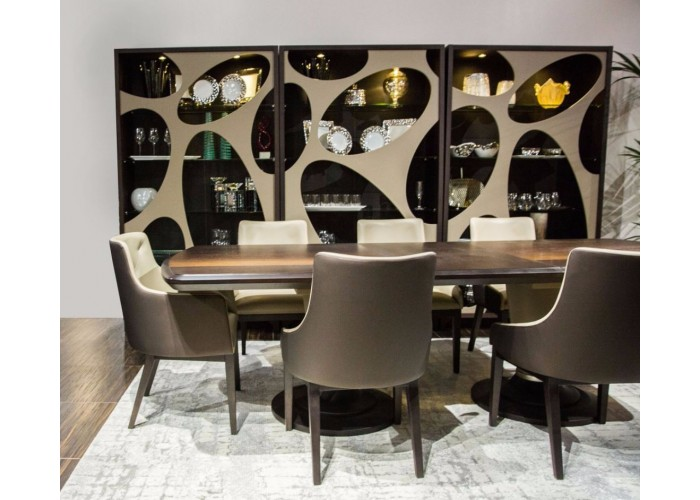 21 Cosmopolitan Taupe Dining Collection - Curio