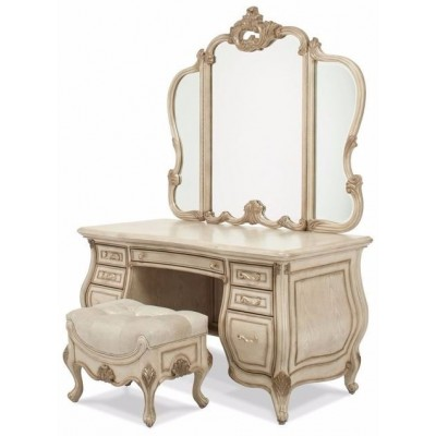 Platine de Royale Bedroom Collection - Vanity and Bench