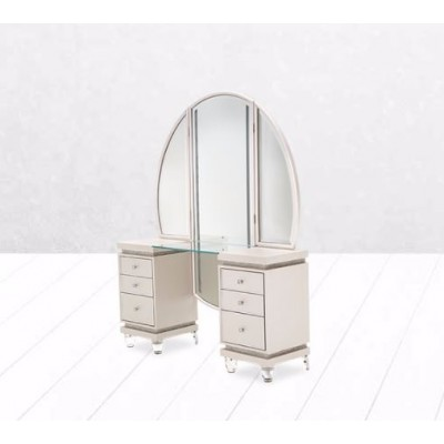 Glimmering Heights Bedroom Collection - Vanity and Mirror