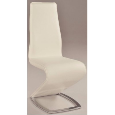 Tara Stationary Dining Side Chair in White
