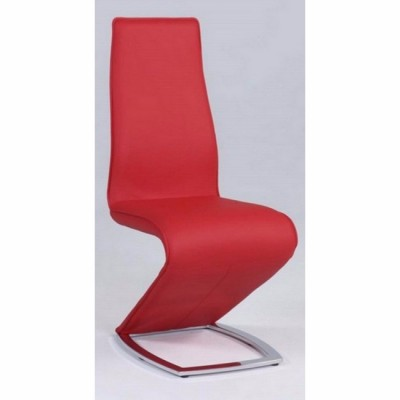 Tara Stationary Dining Side Chair in Red