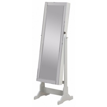 Jewelry Cheval Mirror in White