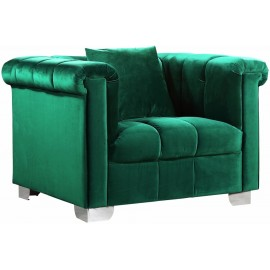 Green Kayla Velvet Chair