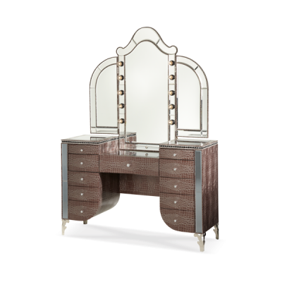 Hollywood Swank Amazing Gator Vanity and Mirror by AICO