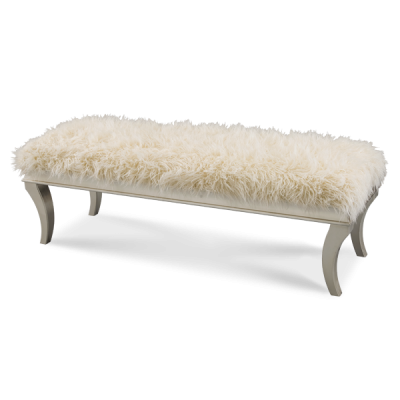 Hollywood Swank Faux Sheepskin Bed Bench by AICO