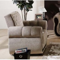 Argos Transitional Style Light Brown Chair in Fabric