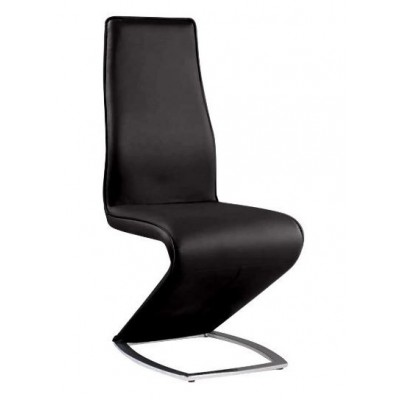 Tara Stationary Dining Side Chair in Black