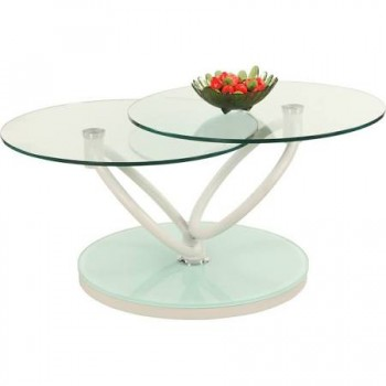 Katherine Modern Motion Cocktail Table in Glass