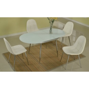 Donna Modern Dining Table with 4 Chairs